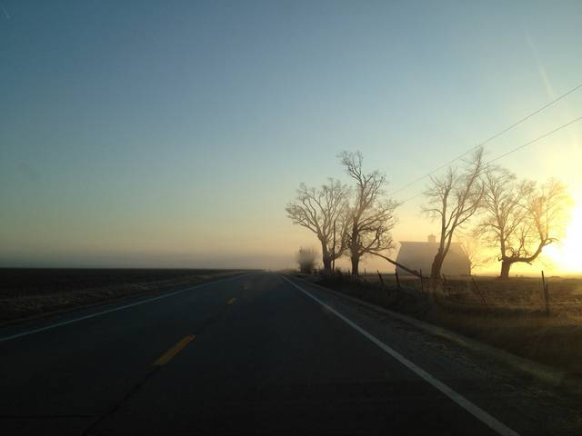 Old Route 36 at Sunrise