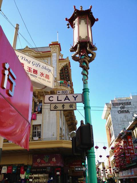 Clay Street in Chinatown