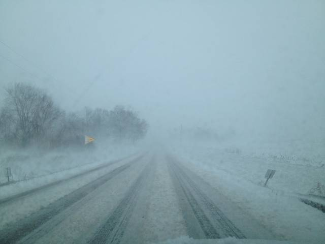 Blizzard on Old Route 36