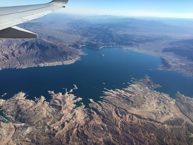 Lake Mead from American Airlines 224