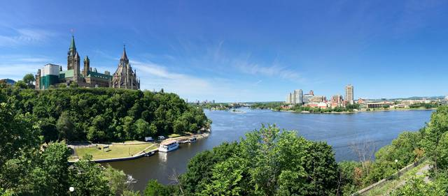 Ottawa River and Parliament Hill