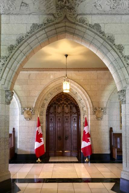 Door to the House of Commons, Centre Block